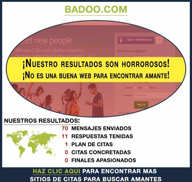 Una vista previa de Badoo.com