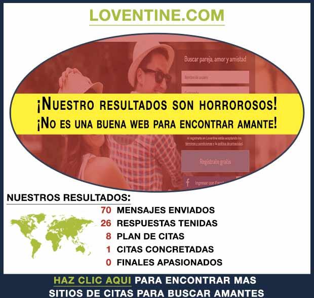 Una vista previa de Loventine.com