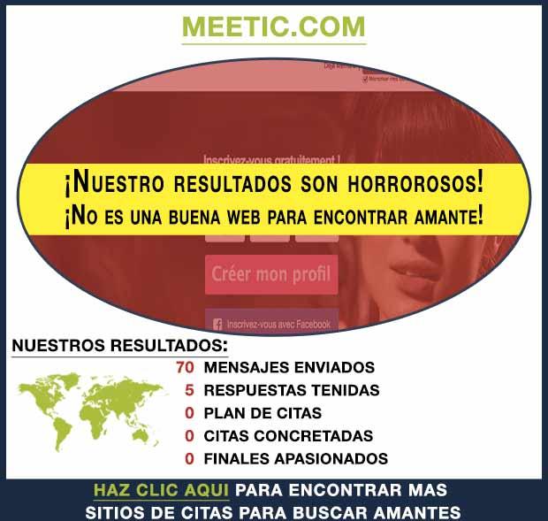Una vista previa de Meetic.com